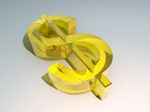 The Golden Dollar 3. A image of a American dollar currency symbol Royalty Free Stock Photos