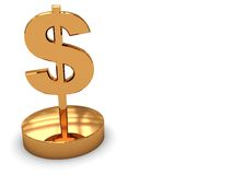 Golden dollar award Stock Photo