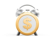 Golden dollar clock Royalty Free Stock Image