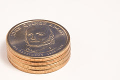 Golden Dollar Coins Royalty Free Stock Photo