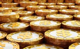Golden Dollar coins Royalty Free Stock Photos