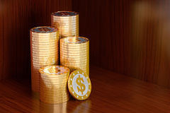 Golden Dollar coins Royalty Free Stock Images