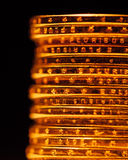 Golden dollar coins stack Royalty Free Stock Images