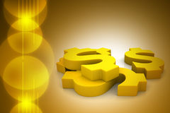 Golden dollar Stock Images