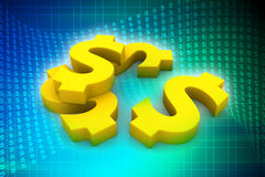 Golden dollar Stock Photography