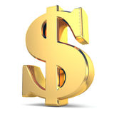 Golden dollar currency sign Stock Photos