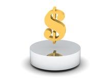 Golden dollar Stock Image