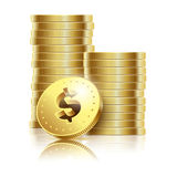Golden dollar Royalty Free Stock Image