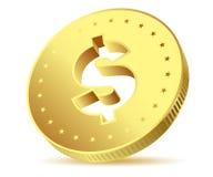 Golden dollar Stock Photography