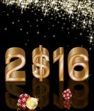 Golden dollar new 2016 year Royalty Free Stock Images