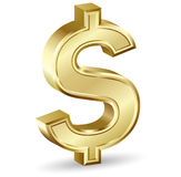 Golden Dollar Sign Royalty Free Stock Photos