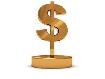Golden dollar sign Royalty Free Stock Photo