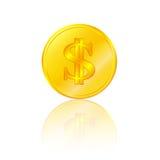 Golden dollar sign. Bank finance Stock Photos