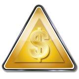 Golden dollar sign Stock Photography