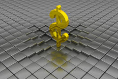 Golden dollar sign Stock Image