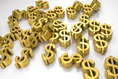 Golden dollar signs Royalty Free Stock Images