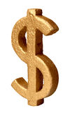 Golden dollar Symbol Royalty Free Stock Images