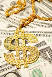 Golden dollar-symbol Royalty Free Stock Images