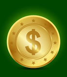 Golden dollar symbol. Abstract background Stock Photography