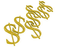 Golden Dollar Symbols Royalty Free Stock Photo