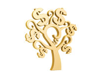 Golden dollar tree Royalty Free Stock Photo