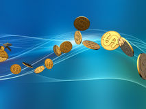 Golden Dollar Wave Royalty Free Stock Photo