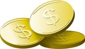 Golden dollars stock illustration