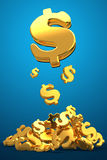 Golden dollars Stock Images