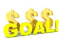Golden dollars Goal Profit Royalty Free Stock Photography