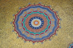 Golden Dome圆mozaic在伊斯坦布尔 库存照片
