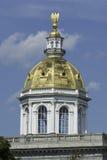 Golden Dome Нью-Хэмпширский капитолия Стоковое фото RF