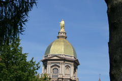 Golden Dome. Notre Dame Golden Dome Stock Photography