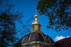 Golden Dome against blue sky Stock Image