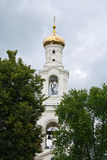 Golden dome of ancient Russian Orthodox Church Royalty Free Stock Images