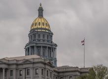Golden Dome av den Colorado tillståndsKapitolium royaltyfria foton