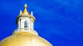 Golden Dome av det Massachusetts tillståndshuset Arkivfoton