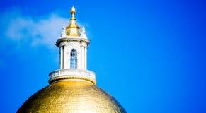 Golden Dome av det Massachusetts tillståndshuset Fotografering för Bildbyråer