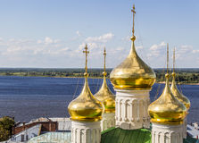 Golden dome of the church Stock Photography