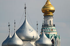 Golden dome of the church Royalty Free Stock Photo