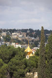 Golden dome of the church of St. Mary Magdalene Stock Photos