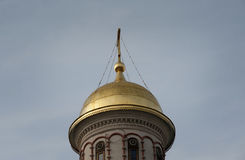 Golden dome closeup Royalty Free Stock Photo