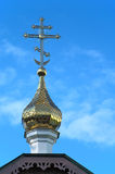 Golden Dome da igreja ortodoxa velha Foto de Stock Royalty Free