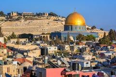 Golden Dome de la mosquée de roche, Jérusalem, Israël Photos libres de droits