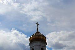 Golden Dome di una chiesa Fotografia Stock