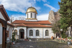 Golden Dome of The Fish Church, St. Mary the Annunciation. Asenovgrad, Plovdiv Region, Bulgaria stock photography
