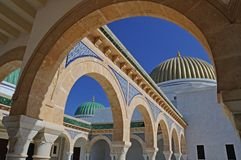 Golden dome & green dome Stock Photos