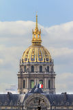 Golden dome Invalides Stock Image