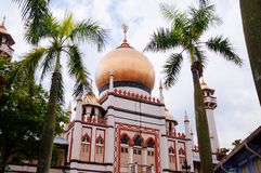 Masjid Sultan or Sultan mosque in Kampong Glam, Singapore. Golden dome of Masjid Sultan or Sultan mosque in Kampong Glam, Rochor district - Singapore royalty free stock photos
