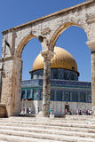 The Golden Dome Mosque in Jerusalem Stock Image