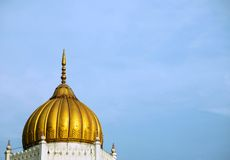 Golden Dome of mosque Stock Images